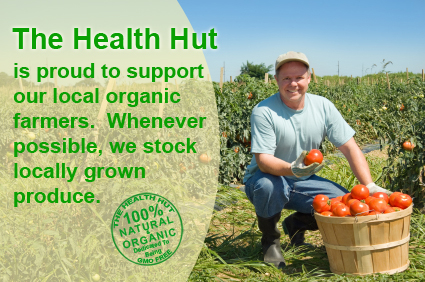 The Health Hut supports the local organic farmer